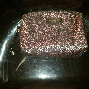 Black and Pink Victoria's Secret makeup travel bag